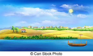 Nile River clipart Nile Art and Illustrations Digital