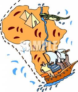 Nile River clipart africa Royalty Picture of Map Egypt