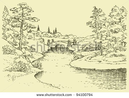 Nile River clipart black and white River River cps A The