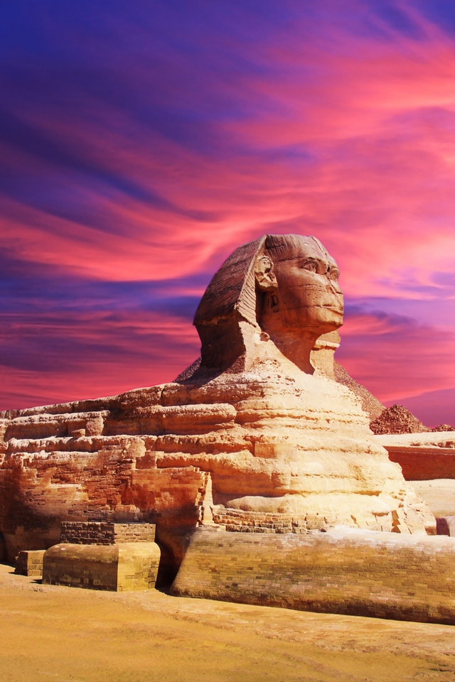 Nile River clipart egypt sphinx In The the behind Giza