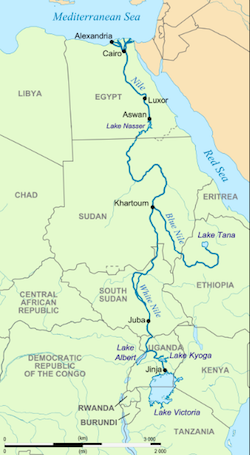 Nile River clipart geographical Rivernilemap_wikipedia_creativecommons png