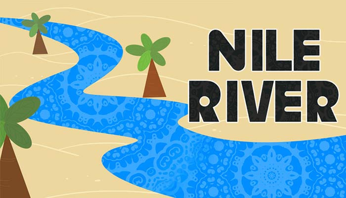 Drawn river nile river  General River Mocomi Knowledge