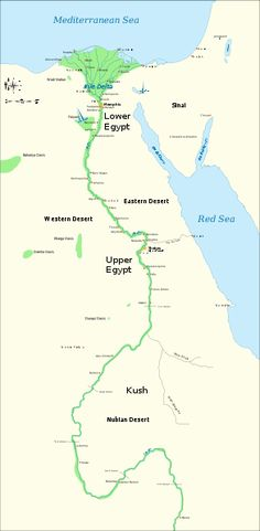 Nile River clipart low Map through River The Egypt