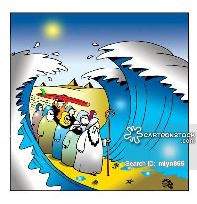 Miracle clipart red sea #1