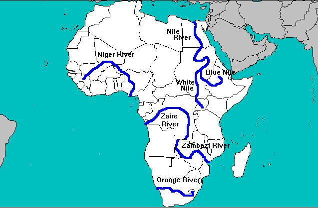 Nile River clipart physical map Of Ethiopia over The Map