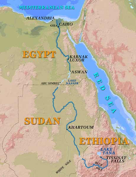 Nile River clipart physical map Nile River River Map Maps: