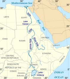 Nile River clipart physical map Nile largest river river The
