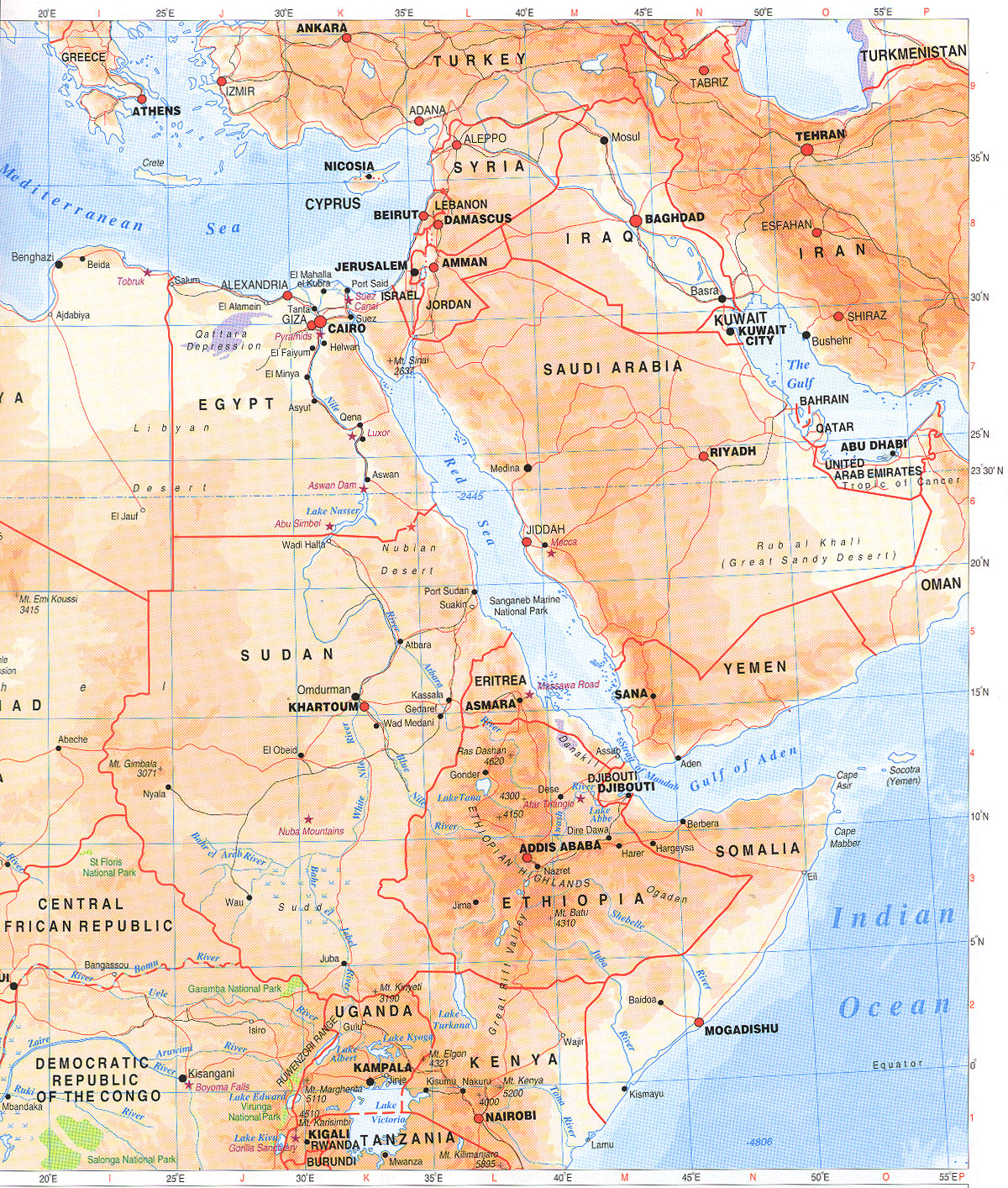 Nile River clipart physical map Valley Ancient Page the Mr
