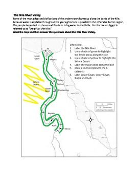 Nile River clipart physical map Studies Activity Egypt on Social