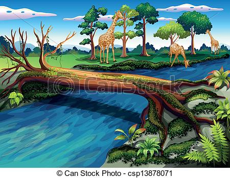 Forest clipart river drawing #2
