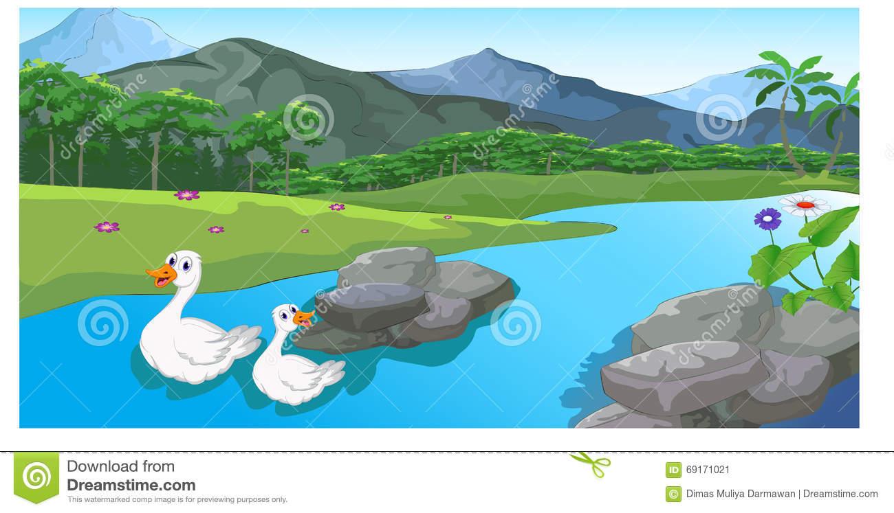 River Landscape clipart river flow Stock River Illustration By Cartoon