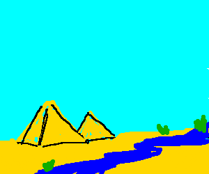 Drawn river nile river The defies Nile pyramids river
