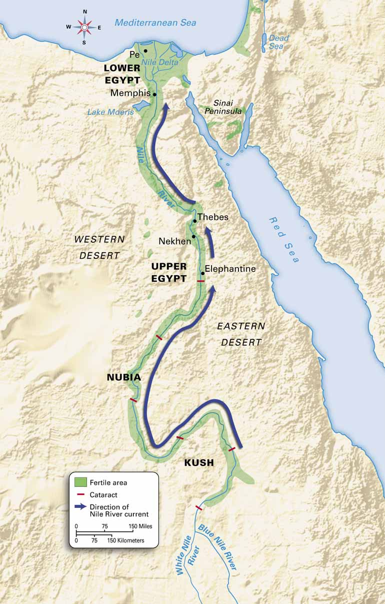 Nile River clipart upper egypt  Ancient extremely elevations Nile