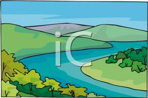 River clipart winding river Clip – Download Art Winding