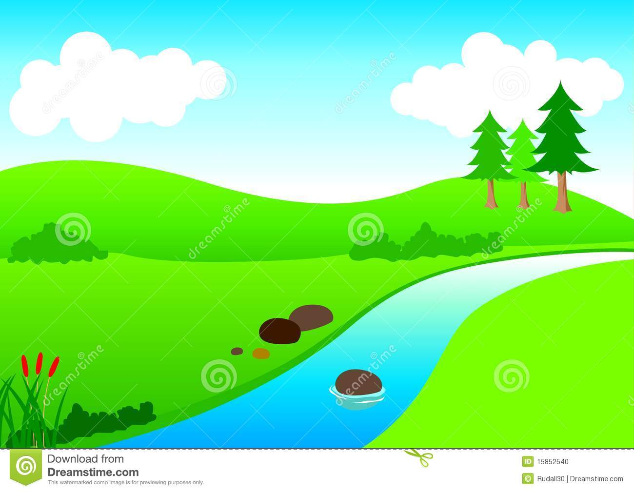 River Landscape clipart river bank #3