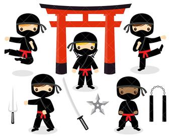 Ninja clipart Cute Art Clipart Ninjas art