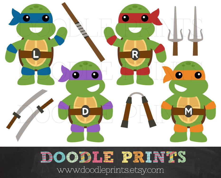 Ninja Turtles clipart Teenage Clip clipart Mutant Etsy