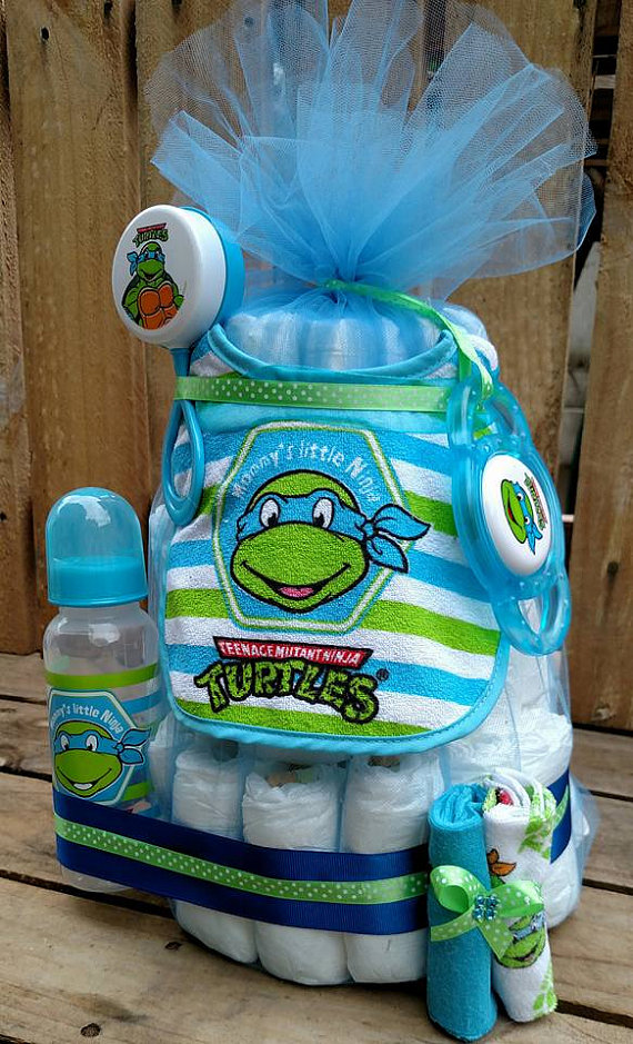 Ninja Turtles clipart baby shower Happy Ninja Diaper Chalkboard Mutant