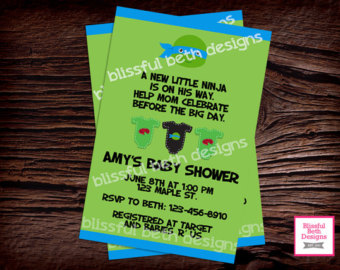 Ninja Turtles clipart baby shower Invite Invitation Baby Shower turtle