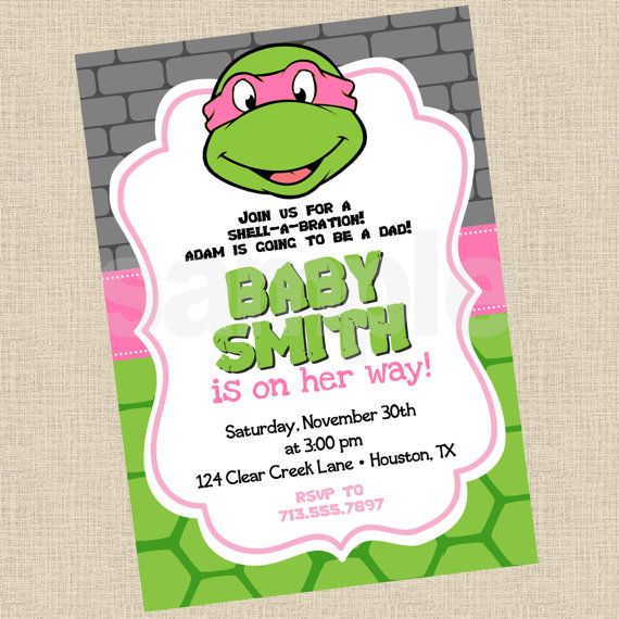 Ninja Turtles clipart baby shower · ShowersMarch on Best Turtles