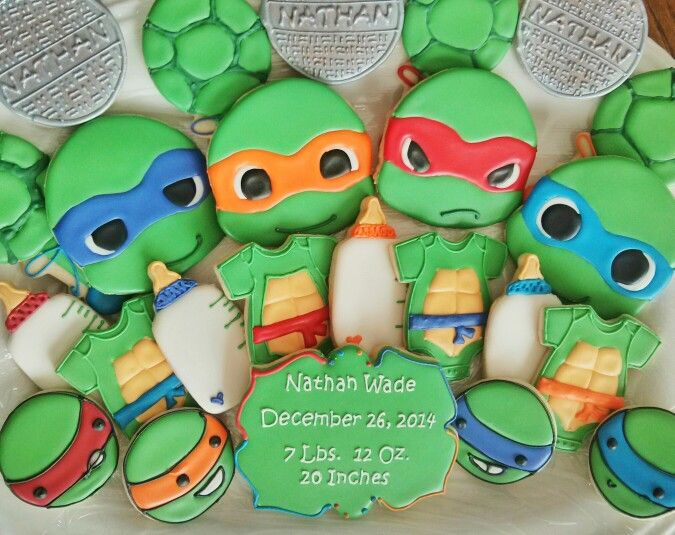 Ninja Turtles clipart baby shower Baby on ninja Ninja Fancy