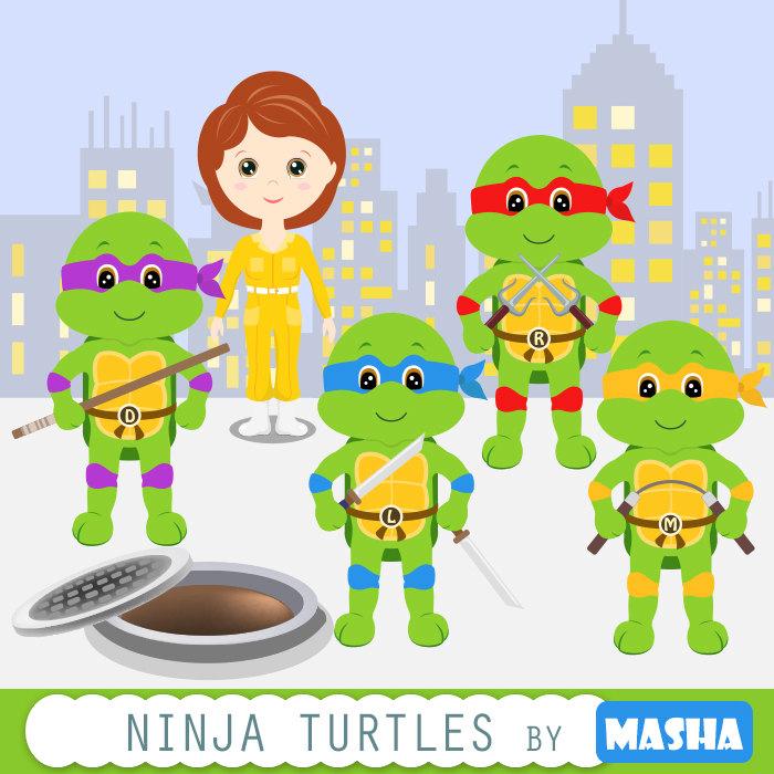 Ninja Turtles clipart black and white White Ninja weapon clipart turtle