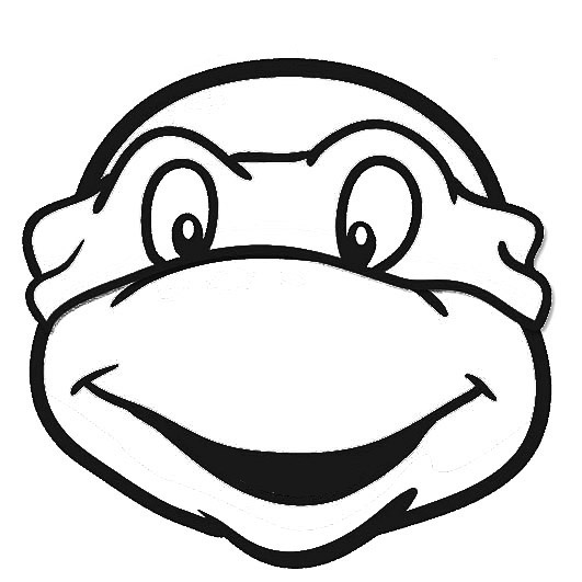 Ninja Turtles clipart black and white Best Template Template  Templates