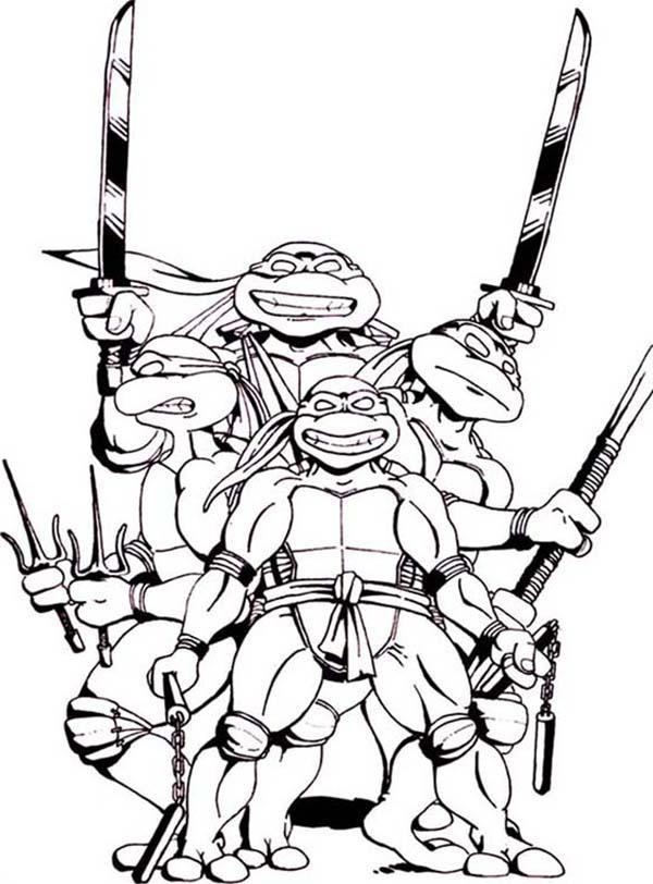 Ninja Turtles clipart black and white Turtles Clip Turtles Face Mutant