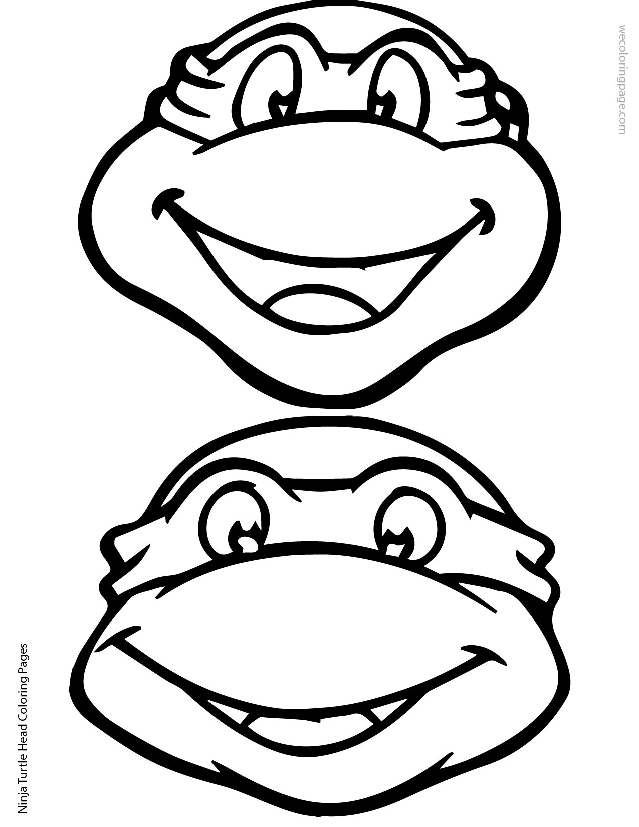 Ninja Turtles clipart black and white Head ClipArt Coloring 02 Turtle