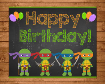 Ninja Turtles clipart happy birthday Printables Happy Ninja Party Teenage