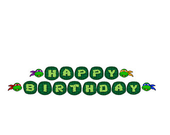 Ninja Turtles clipart happy birthday Decorations Ninja Etsy Teenage birthday