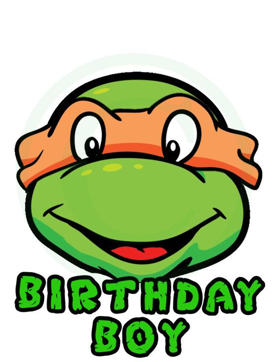 Ninja Turtles clipart happy birthday 38 Transfer Pinterest Ninja download