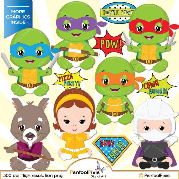 Ninja Turtles clipart high resolution Baby Superhero Turtles Superhero Ninja