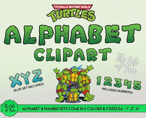 Ninja Turtles clipart high resolution Ninja and Alphabet  4