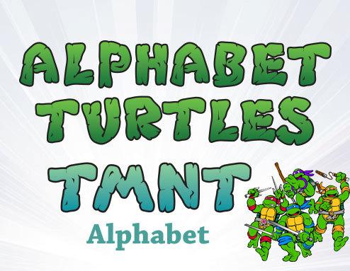 Ninja Turtles clipart high resolution Ninja Clipart Alphabet Alphabet Turtles