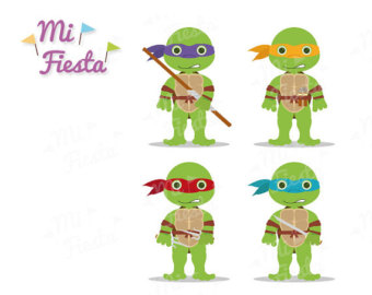 Ninja Turtles clipart kawaii On MiFiesta Donatello Raphael Michaelangelo