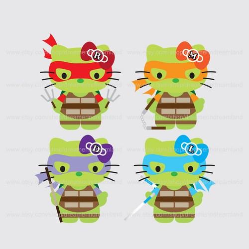 Ninja Turtles clipart kawaii File Superhero Cat Cat Digital