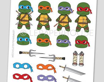Ninja Turtles clipart kawaii Illustration stickers stickers Ninja stickers
