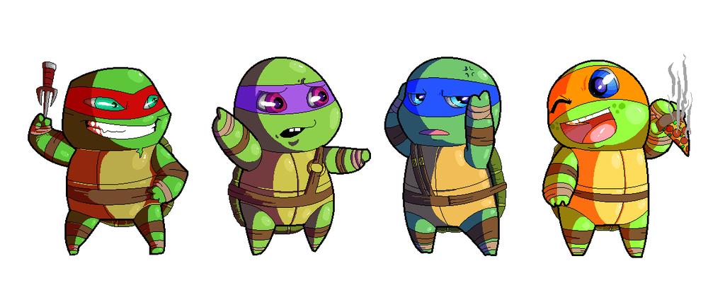 Ninja Turtles clipart kawaii Teenage Mutant Turtles Turtles PowderAkaCaseyJones
