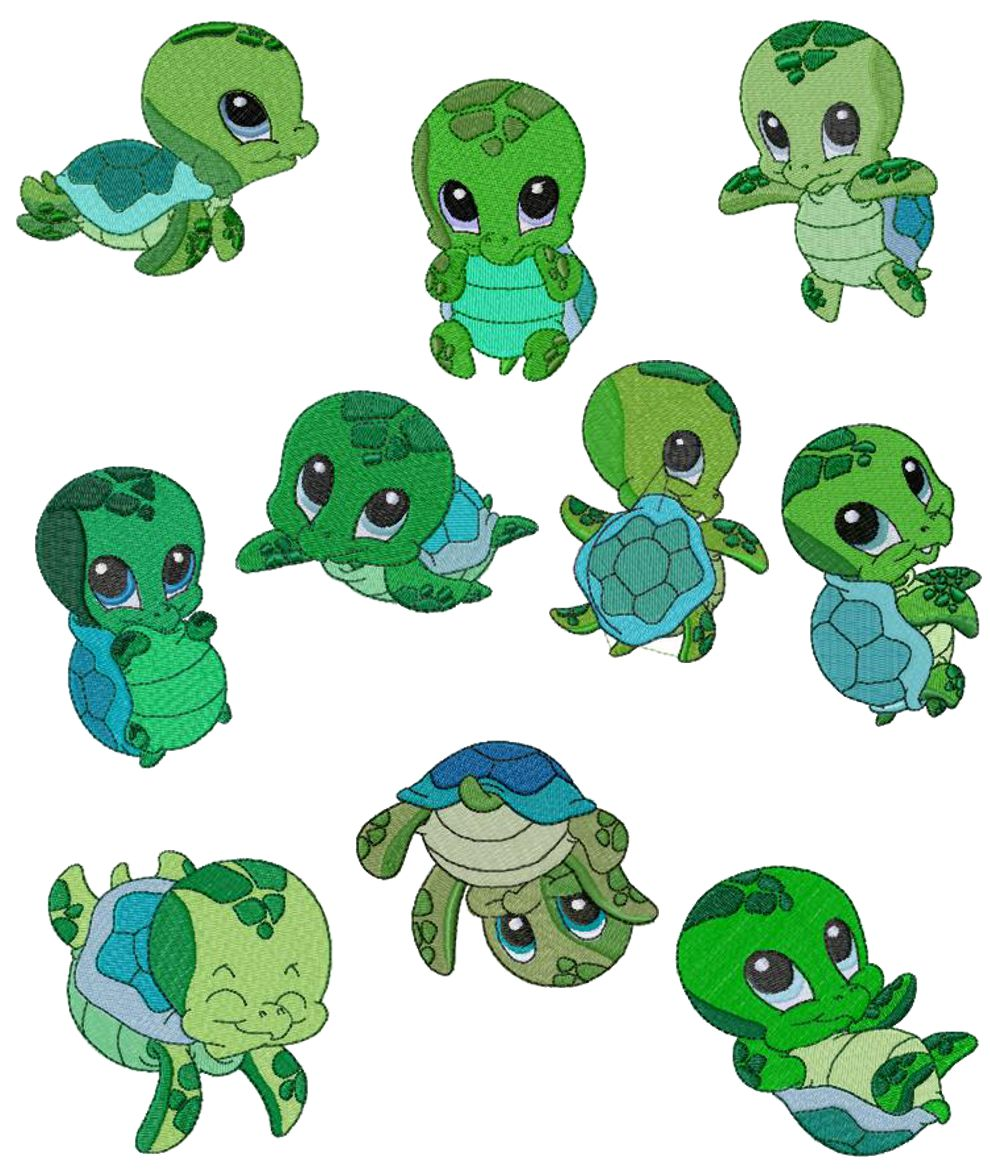 Sea Turtle clipart turtle face #8