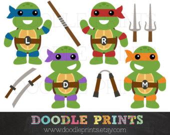 Sword clipart cross TMNT Ninja Digital Images Printable