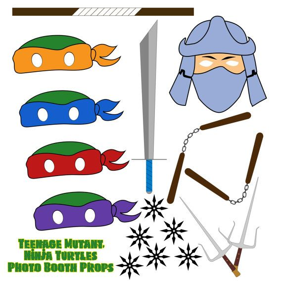 Weapon clipart tmnt Turtle Weapons Mutant Props Booth