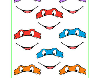 Ninja Turtles clipart printable Balloon Lollipop eyes Download INSTANT