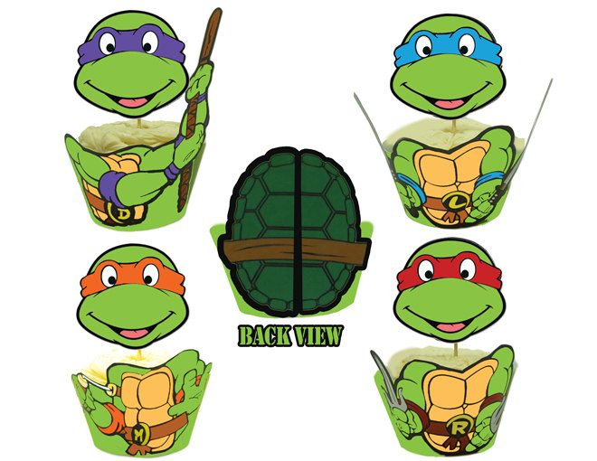 Ninja Turtles clipart printable Party best $8 images Etsy