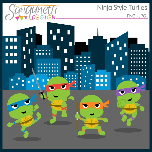 Ninja Turtles clipart st valentine Illustration Design: and commercial Sanqunetti