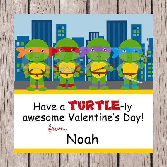 Ninja Turtles clipart st valentine Turtle Day Favor on a