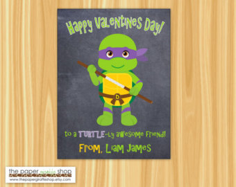 Ninja Turtles clipart st valentine Classroom Card Cards Kids Turtle