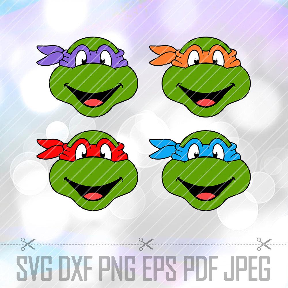 Ninja Turtles clipart vector Teenage Turtles Cricut DXF Designs