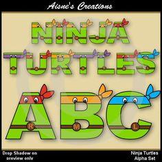 Ninja Turtles clipart yellow And TMNT Turtles Ninja set