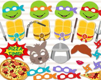Ninja Turtles clipart yellow Photo turtles Etsy print Props